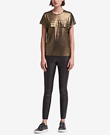 DKNY Tiered Metallic T-Shirt