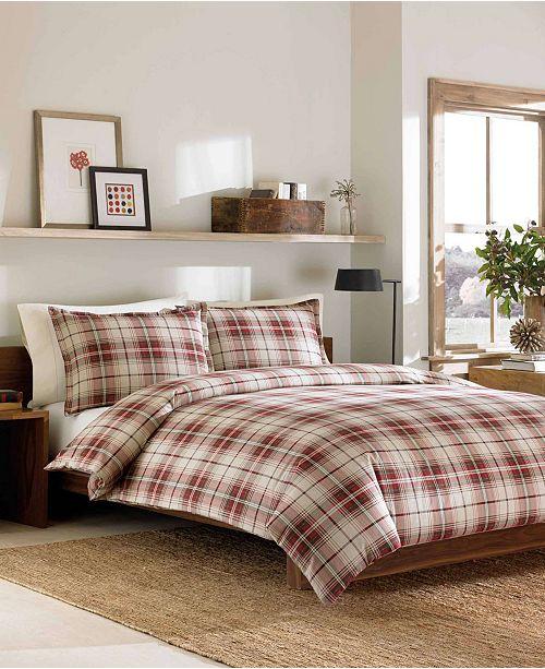 Eddie Bauer Montlake Plaid Full Queen Medium Red Flannel Duvet Cover Set Reviews Duvet Covers Bed Bath Macy S