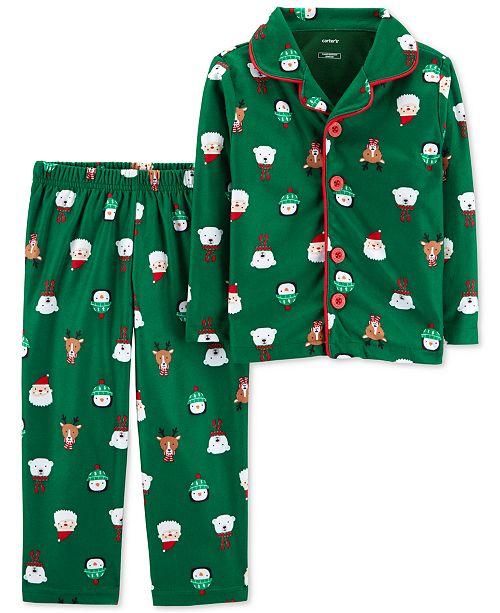 acdf8b67f Carter s Toddler Boys 2-Pc. Fleece Holiday-Print Pajamas   Reviews ...