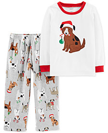 Carter's Toddler Boys 2-Pc. Holiday Dog Pajamas