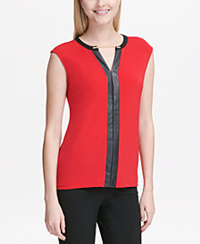 Calvin Klein Chain-Detail Sleeveless Top