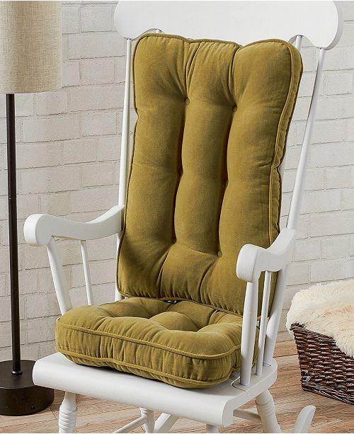 Greendale Home Fashions Hyatt Fabric Standard Rocking Chair Cushion