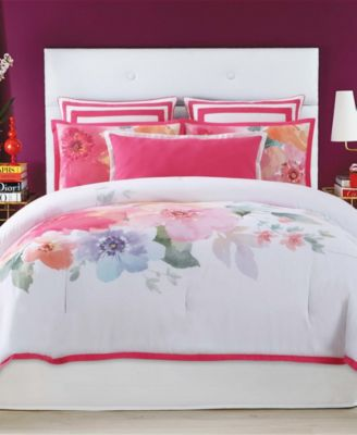 Christian Siriano Bold Floral King 3 Piece Duvet Cover Set