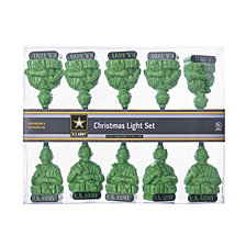 Kurt Adler UL 10 Light U.S. Army Light Set