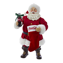 Kurt Adler 10 Inch Santa with Coke Bottle and Stocking