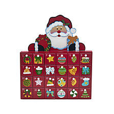 Kurt Adler 13 Inch Wooden Santa Advent Calendar