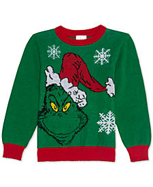 Dr. Seuss Toddler Boys Grinch Holiday Sweater