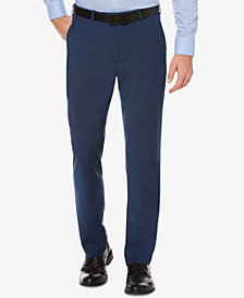 Perry Ellis Portfolio Straight Fit No Iron Flat Front Bengaline Dress Pants