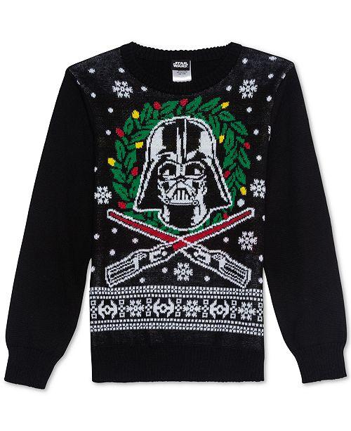 Macys Christmas Sweaters.Star Wars Big Boys Darth Vader Holiday Sweater Reviews