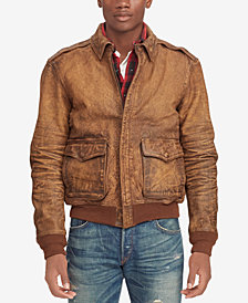 Polo Ralph Lauren Men's Leather Bomber Jacket