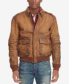 Polo Ralph Lauren Men's Leather Bomber Jacket