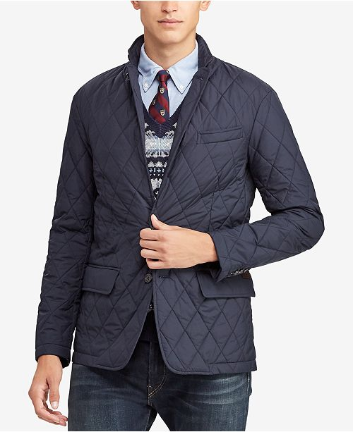 50862f0ba Polo Ralph Lauren Men s Quilted Sport Coat   Reviews - Coats ...