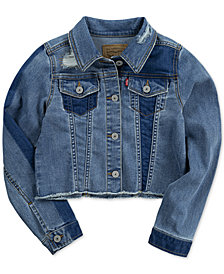 Levi's® Big Girls Cropped Trucker Denim Jacket