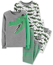 Carter's Little & Big Boys 4-Pc. Gators Cotton Pajama Set