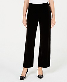 Petite Velvet Wide-Leg Pants, Created for Macy's