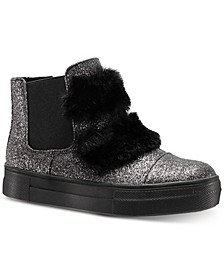 Helen Hi-Top Sneaker with Faux-Fur Trim, Toddler, Little & Big Girls