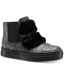 Nina Helen Hi-Top Sneaker with Faux-Fur Trim, Toddler, Little & Big Girls