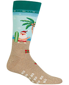 Hot Sox Men's Santa Crew Socks