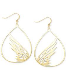 Butterfly Teardrop Drop Earrings in 18k Gold over Sterling Silver