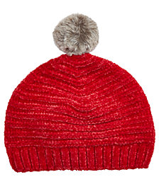 First Impressions Baby Boys & Girls Chenille Beanie with Faux-Fur Pom, Created for Macy's