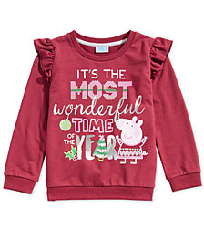 Peppa Pig Toddler Girls Ruffle-Trim Sweatshirt