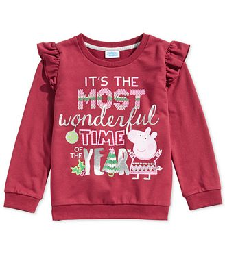 Peppa Pig Little Girls Ruffle-Trim Sweatshirt