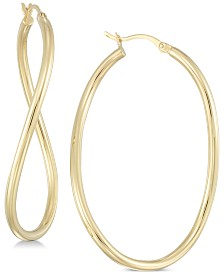 Simone I. Smith Wavy Hoop Earrings in 18k Gold over Sterling Silver or Sterling Silver