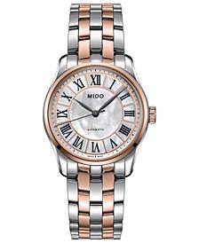 Women's Swiss Automatic Belluna II Two-Tone Stainless Steel Bracelet Watch 33mm