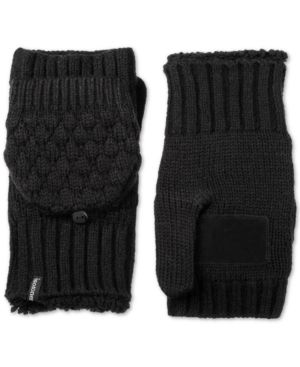 Isotoner Signature Bubble-Knit Flip-Top Mittens 6571619