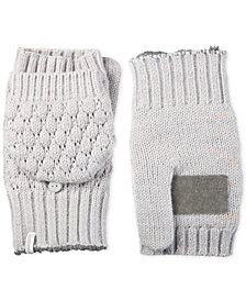 Isotoner Signature Bubble-Knit Flip-Top Mittens