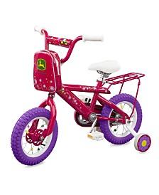 TOMY - John Deere 12 Inch Girls Bicycle, Pink