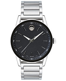 Movado Men's Swiss Modern Sport Stainless Steel Bracelet Watch 42mm