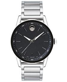 Movado Men's Swiss Modern Sport Stainless Steel Bracelet Watch 42mm