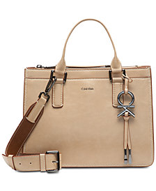 Calvin Klein Brynn Pebble Leather Satchel
