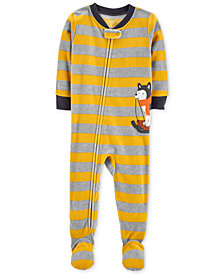 Carter's Baby Boys Striped Husky Footed Pajamas