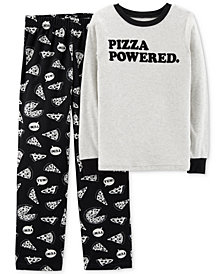 Carter's Little & Big Boys 2-Pc. Pizza Pajamas Set
