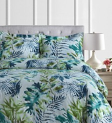 Madrid Printed Tropical Rainforest Oversized Twin Duvet Cover Set