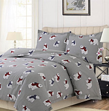 Polar Bear Printed Heavyweight Flannel Oversized Duvet Sets