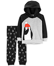 Carter's Baby Boys 2-Pc. Penguin Hoodie & Pants Set