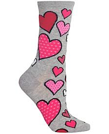 Women's Hearts Crew Socks