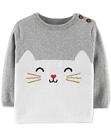 Carter's Baby Girls Cotton Cat Sweater