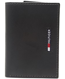 Men's Extra-Capacity RFID Leather Tri-Fold Wallet