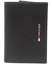 a965abe5be08 Tommy Hilfiger Men's Extra-Capacity RFID Leather Tri-Fold Wallet