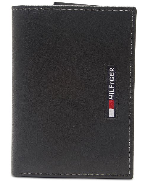 Tommy Hilfiger Men's Extra-Capacity RFID Leather Tri-Fold Wallet