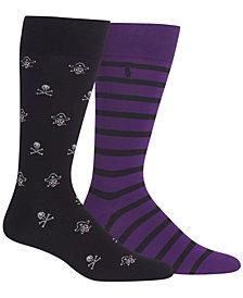 Polo Ralph Lauren Men's 2-Pk. Skull Pirate Socks
