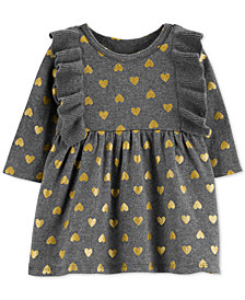 Carter's Baby Girls Cotton Heart-Print Sweater Dress