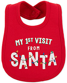 Carter's Baby Boys or Baby Girls Santa Visit Bib