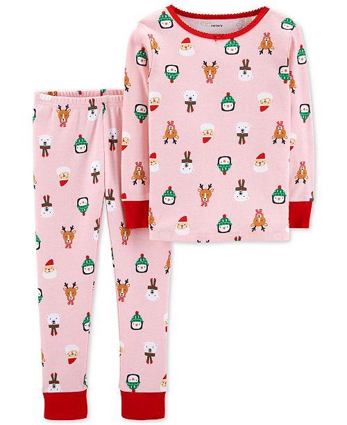 c82d0a75283f Carter s Baby Girls Holiday-Print Cotton Pajamas   Reviews - Pajamas ...