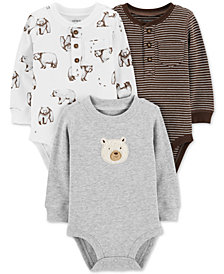 Carter's Baby Boys 3-Pk. Bears & Stripes Cotton Bodysuits