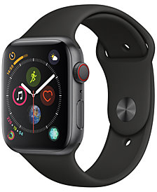 Apple Watch Series 4 GPS + Cellular, 44mm Space Gray Aluminum Case with Black Sport Band